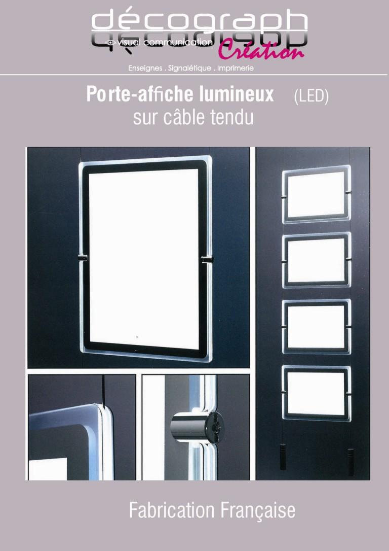 portes affiche leds pour agence immobili re decograph. Black Bedroom Furniture Sets. Home Design Ideas